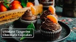 Ultimate Tangerine Chocolate Cupcakes | Tangerine Cupcakes | AMSR Cooking