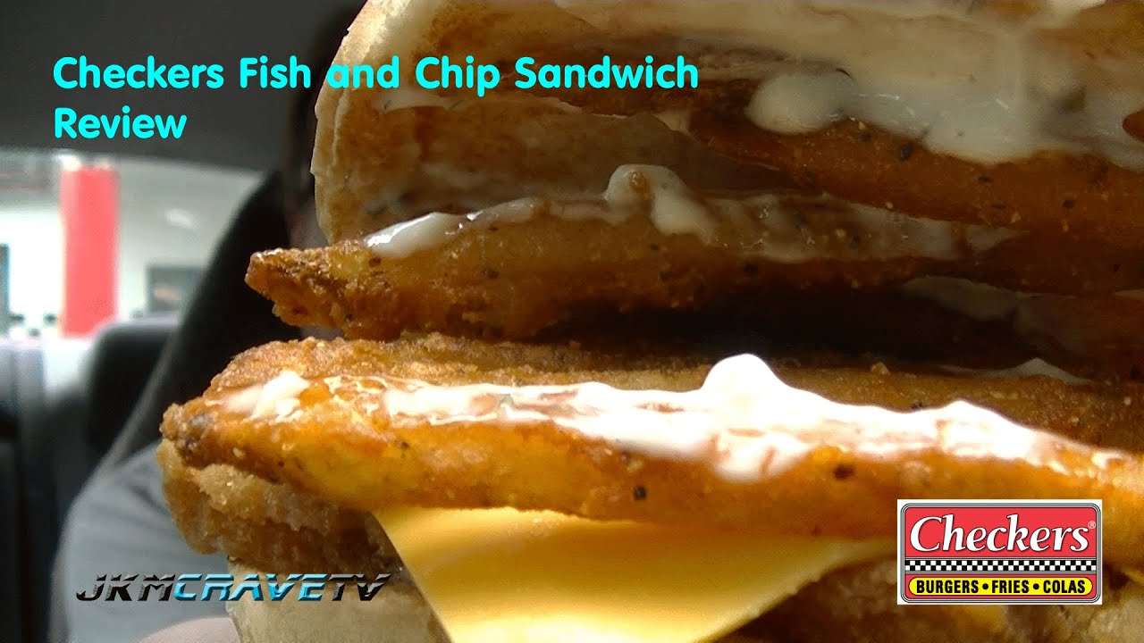 Checkers fish and chip sandwich review 101 youtube for Checkers fish sandwich