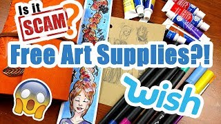 FREE WISH HAUL?! ~ Art Supplies from WISH