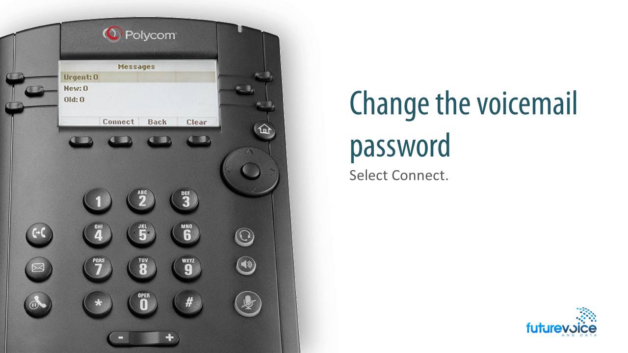 Changing Voice Mail Greeting And Password Using Polycom Vvx300 On