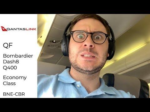 QantasLink Bombardier Q400 Economy Class Brisbane To Canberra