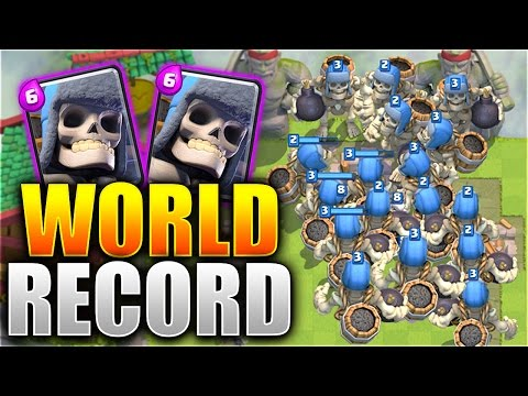 17 GIANT SKELETONS WORLD RECORD!!! – Clash Royale BREAKING TWO NEW WORLD RECORDS! (EPIC)