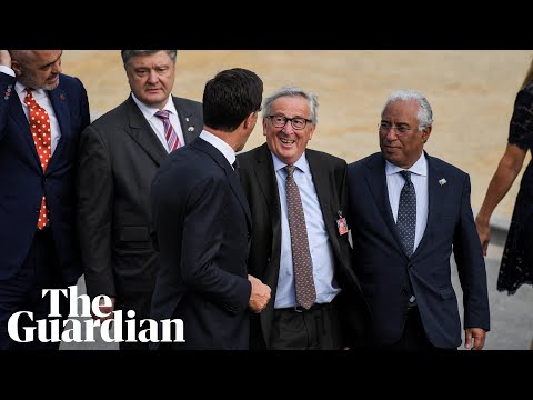 EU's Juncker stumbles repeatedly at Nato summit