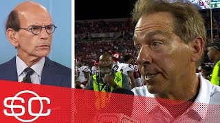 Nick Saban postgame QB interview and Paul Finebaum, Mack Brown reactions | SportsCenter | ESPN