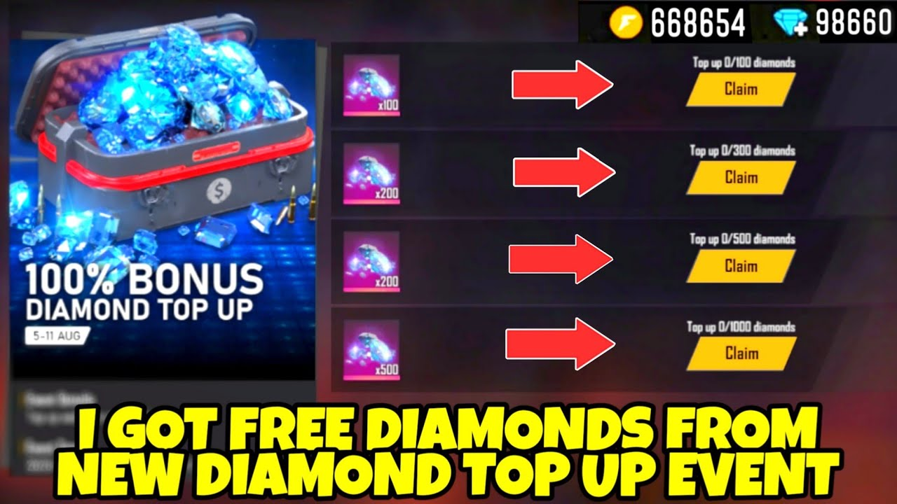 I Got Free Diamonds From New Diamond Top Up Event Free Fire 2020 Youtube