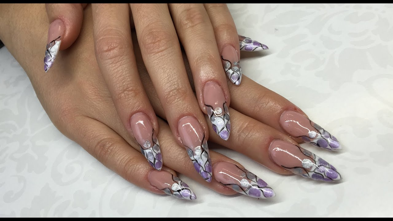 Stiletto Nail Art How To Create Perfect Nails UV Gel Extensions Without Losing It
