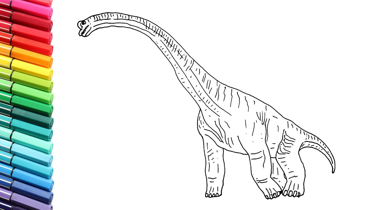 How, to Draw and Color the Brachiosaur From Jurassic World ...