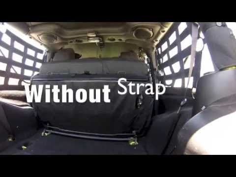 Safari Straps Jeep Jk 2dr Rear Seat Strap Youtube