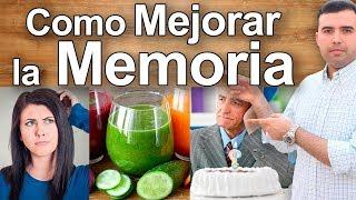 Como MEJORAR Y REVERTIR LA PERDIDA DE MEMORIA - Remedios Caseros Para Demencia Senil y Alzheimer