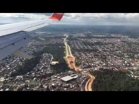 Landing to Manaus from above just merged Amazon river