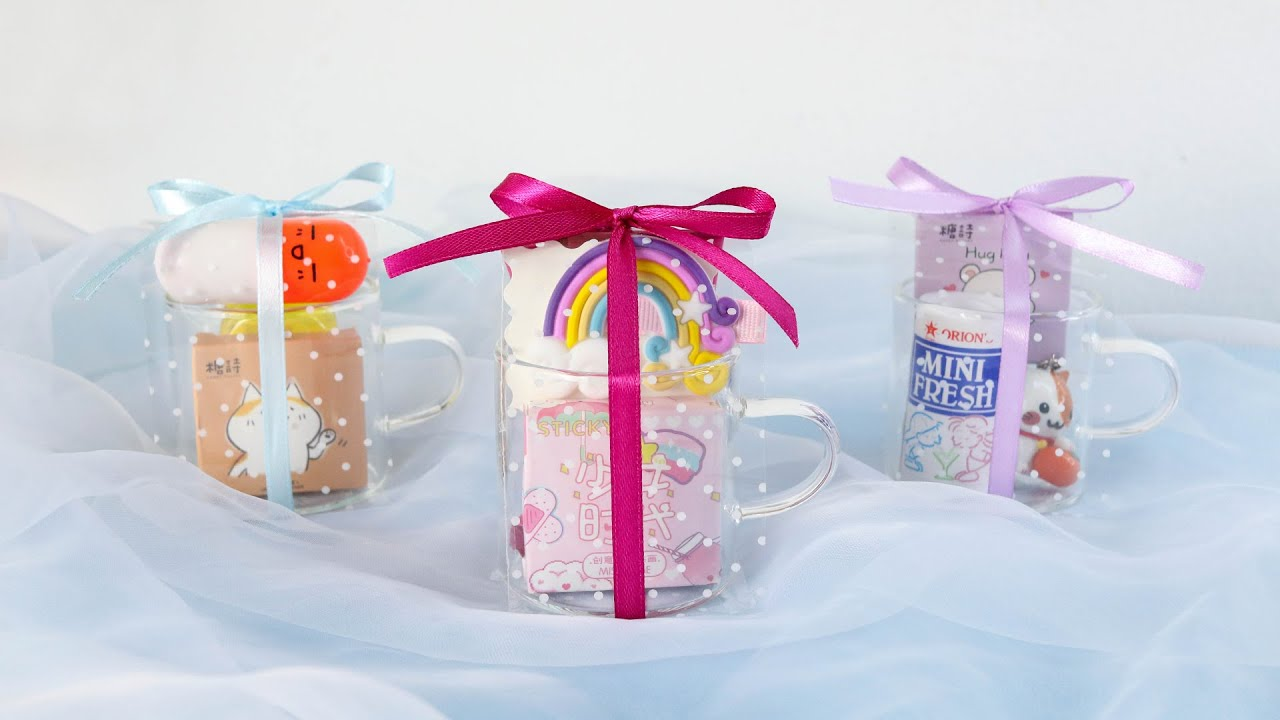 Cute Gifts with toy, candy, sticker for daughter, niece or best friend