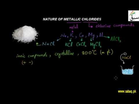 Nature Of Metallic Chlorides