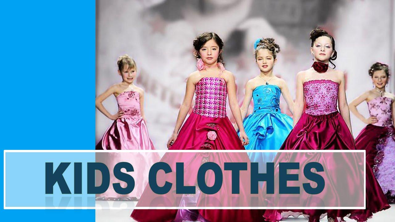 Kids designer clothes 2015 2016 girl's dresses models ...