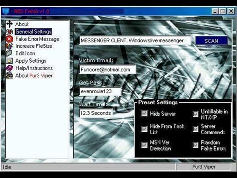 REDFANG v1.0 hotmail hacking tool by PureVip3r