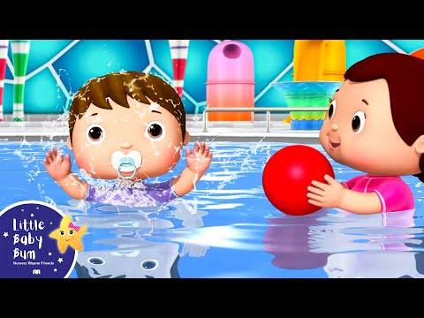 Ten Little Funny Babies | Waterpark Playground | Nursery Rhymes | Original Version By LittleBabyBum!