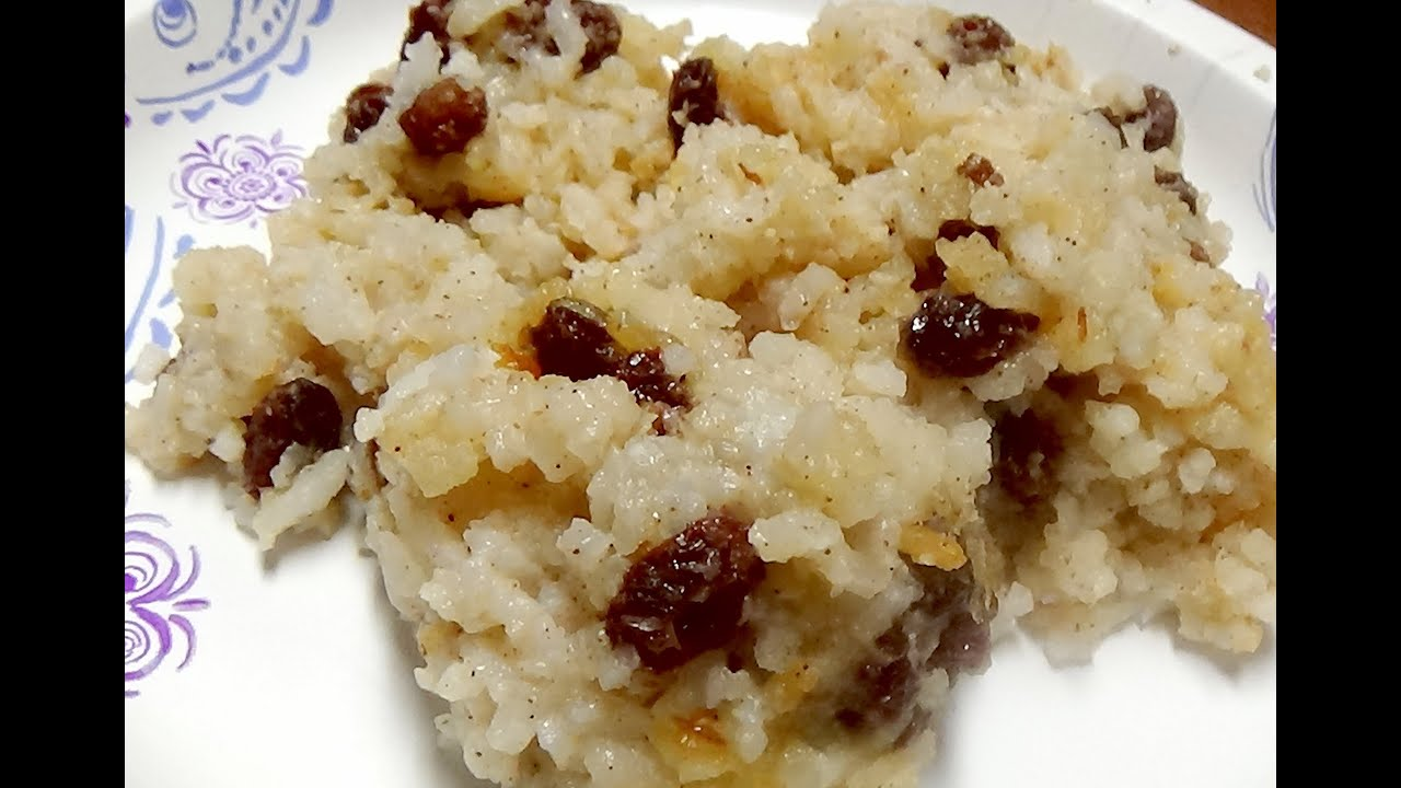 Christmas Recipe - Baked Rice Pudding with Plump Raisins and Cinnamon ...