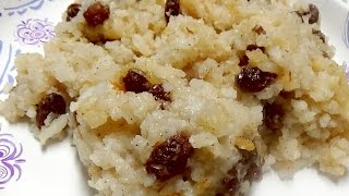 Christmas Recipe - Baked Rice Pudding with Plump Raisins and Cinnamon