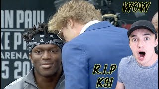 KSI VS. LOGAN PAUL PRESS CONFERENCE! **insanity** REACTION!