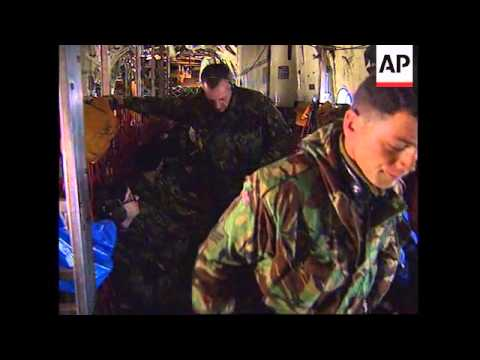 UK/CROATIA: BRITISH NATO TROOPS LEAVE RAF LYNEHAM FOR BOSNIA