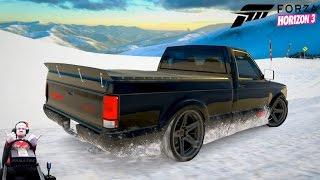 Стильный пикапчик GMC Syclone наваливает бочком в фул тюнинге Forza Horizon 3