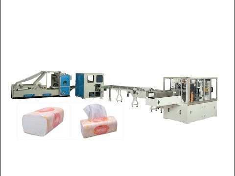 Full automatic soft packing facial tissue paper making machine production line