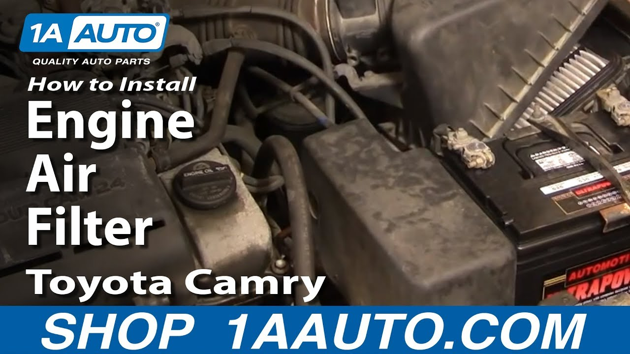 how to install replace engine air filter toyota camry lexus es300 91 96 1aauto com [ 1280 x 720 Pixel ]