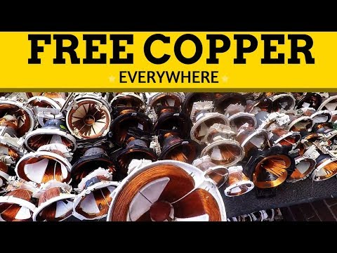 Free Copper - It's Everywhere! Trash Day TV's, Microwaves, Computers