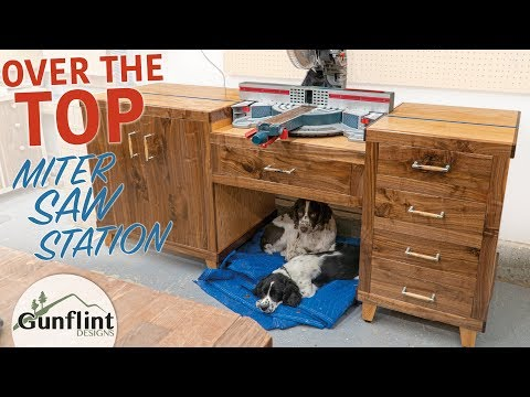 Modular Miter Saw Station - Woodworking Practice