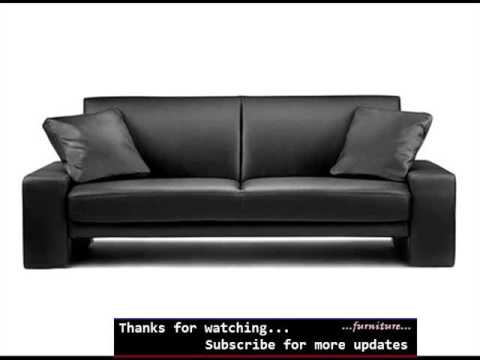 Sofa Bed Leather Black | Leather Sofas Romance - Sofa Bed Leather Black Leather Sofas Romance - YouTube