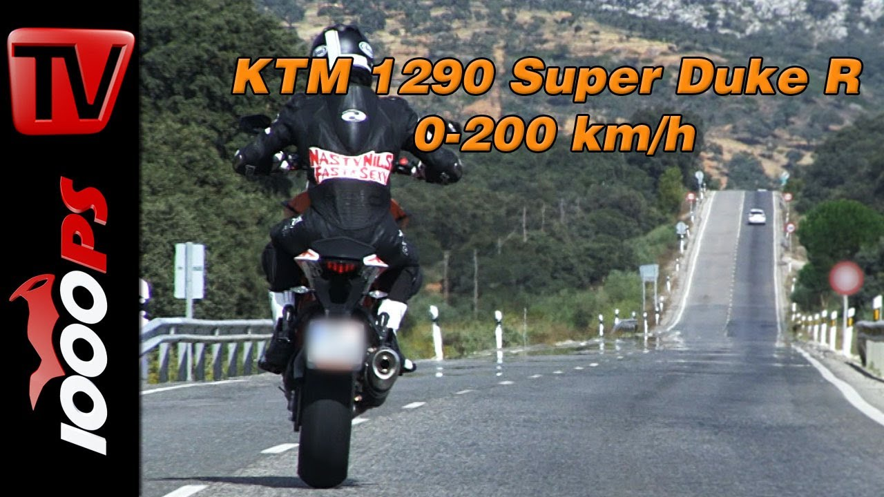 Ktm 1290 Super Duke R >> 0-200 km/h | KTM 1290 Super Duke R-Beschleunigung - YouTube