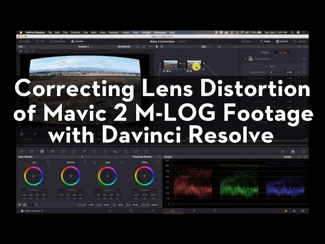 Editing and Correcting Mavic 2 Pro Footage with Davinci Resolve