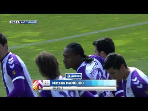 Gol de Manucho (1-0) en el Real Valladolid - UD Almería - HD