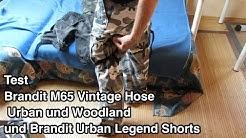 Test Brandit M65 Vintage Hose Urban und Woodland und Brandit Urban Legend Shorts | Brandit m65