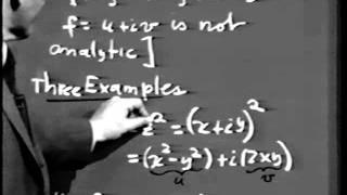 Part I: Complex Variables, Lec 2: Functions of a Complex Variable