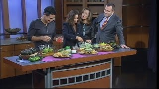 Mario And Courtney Lopez Get Cooking In The Good Day Cafe