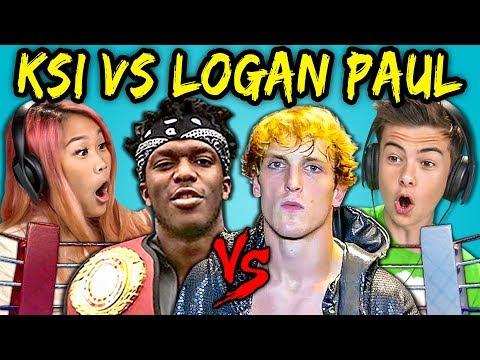 TEENS REACT TO LOGAN PAUL VS KSI FIGHT