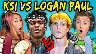 TEENS REACT TO LOGAN PAUL VS KSI FIGHT