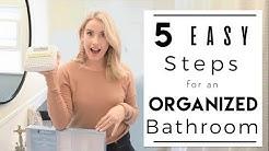 ORGANIZE | Tips and Ideas for Small Bathroom Organization
