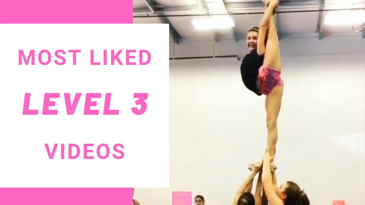 Top 10 most liked level 3 cheerleading videos on Instagram