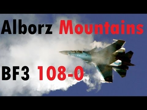 BF3 Perfect Jet Round (108-0) | Alborz Mountains: SU-35 | Conquest HD Gameplay