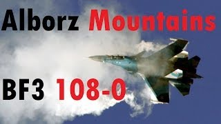 BF3 Perfect Jet Round (108-0) | Alborz Mountains: SU-35 | Conquest HD Gameplay