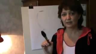 Как рисовать портрет человека   Видео урок №2