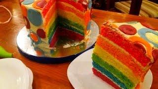 """Торт """"Радужный"""". Торт на Детский День Рождения"""