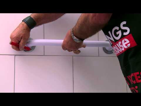 How To Install Bathroom Grab Rails - DIY At Bunnings