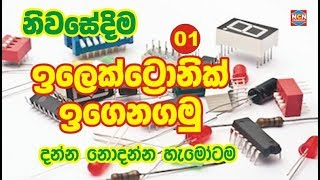 How to use electronic component  Sinhala by NCN Creation