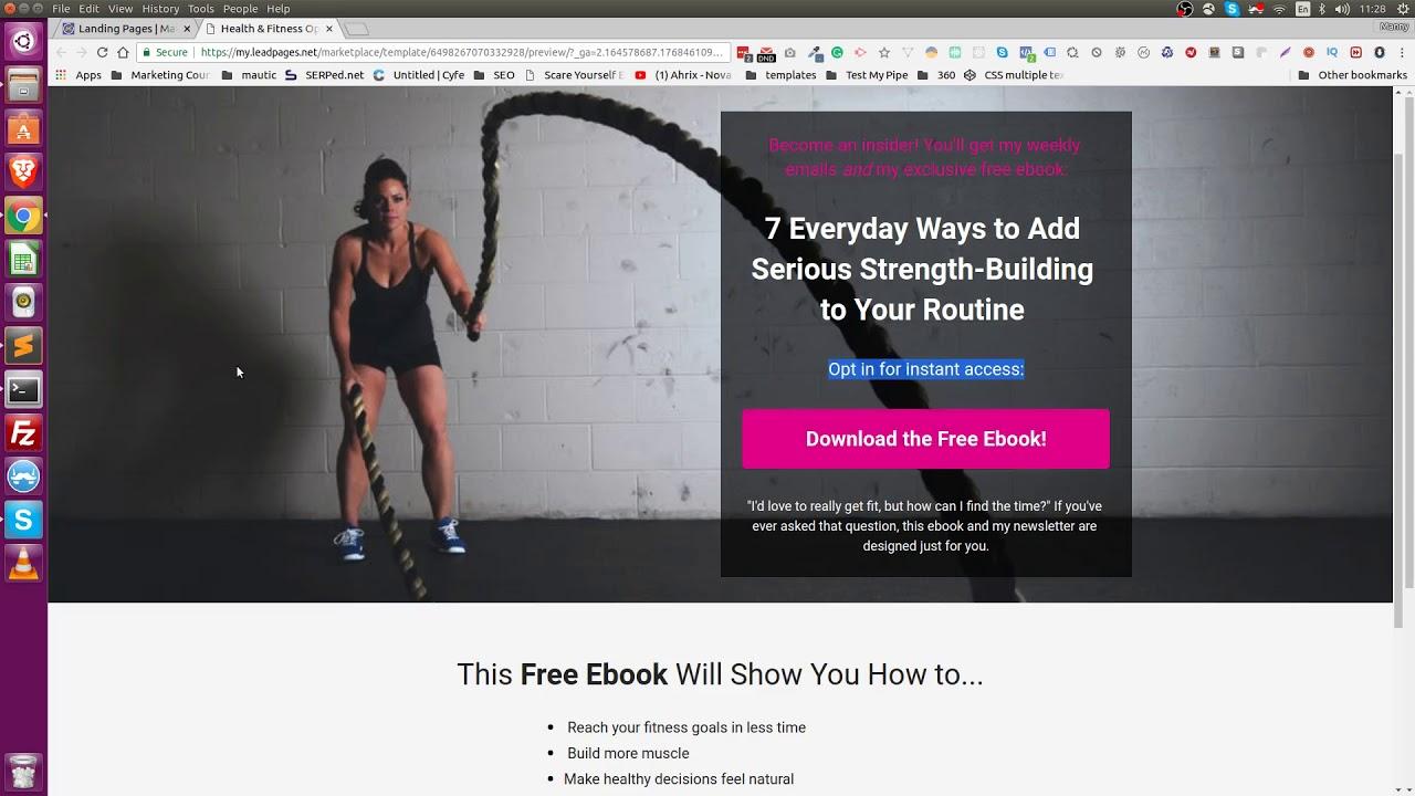 Mautic Theme Development - Fitness Landing Page