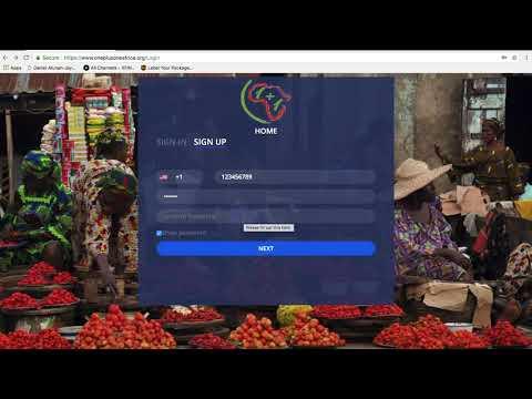 OnePlusOneAfrica Bookkeeping Online Signup tutorial