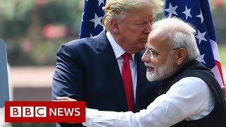 President Trump in India: Mispronunciations and cheers on day one - BBC News