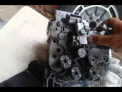 AW5550SN valve body reassembly  YouTube
