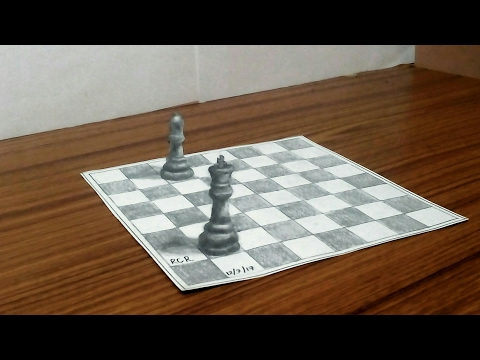 3d drawing of chess coins |3d illusion drawing|3d drawing on paper|how to draw a 3d object,tips